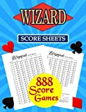 Wizard Score Sheets: 888 Large Score Pads for Scorekeeping – Wizard Score Cards   Wizard Score Pads with Size 8.5 x 11 inches