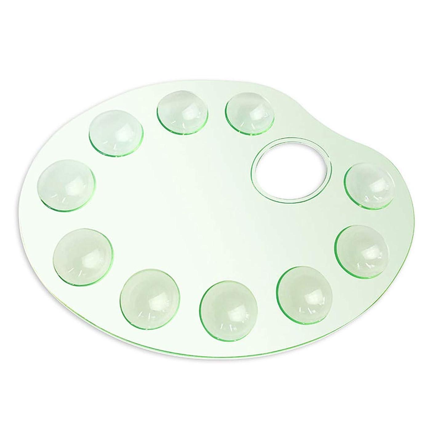 疑問を超えて軸ピッチャーFELICIAAA 透明パレット楕円形のプラスチックパレット油絵アクリルガッシュ ( Color