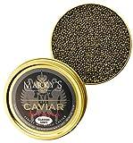 Marky's Grey Sevruga Premium Sturgeon Caviar – 2 Oz Malossol Sturgeon Black Roe – GUARANTEED OVERNIGHT