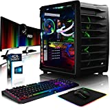 VIBOX Spectrum RXR780-390 Gaming PC Ordenador de sobremesa con Cupón de Juego, Win 10, 3X Triple 27' HD Monitor (4,5GHz Intel i9 10-Core, Radeon RX 580, 8GB DDR4 RAM, 3TB HDD)