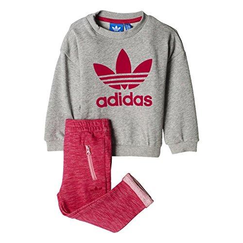 adidas adidas Kinder I TRF FT Crew Sweatshirt, Grau/Brgrin/Rossen/Rosfue, 74