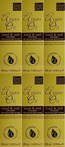 Six Packs Of Argan Oil Hand & Nail Cream 100ml