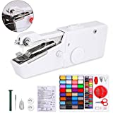 Handheld Sewing Machine and Sewing Thread Kit, Mini White Portable Electric Sewing Machine and 28 Colors...