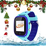 4G Smart Watch IP67 Waterproof Kids GPS Watch LBS Tracker Wrist Children's Smartwatch 1.3 Touchscreen with SOS Flashlight Two Way Call Voice Chat Alarm Camera,Birthday Daily Gifts for 3-12Y