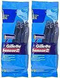 Gillette GoodNews! Sensor2 Regular Disposable Razors - 12 ct - 2 pk
