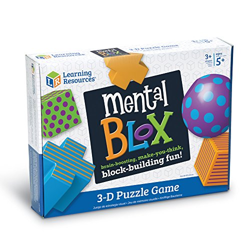 51WekjUyipL - Learning Resources Mental Blox Critical Thinking Game, Homeschool, Easter Basket Game, 20 Blocks, 20 Activity Cards, Ages 5+