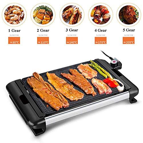 FirnFose 2200W Power Korean Barbecue sans fum/ée Barbecue /électrique Grill et marmite r/ôtissoire /électrique Plaque de Cuisson /électrique 2 en 1 Grill /électrique avec Fondue