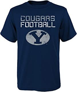 OuterStuff BYU Cougars NCAA Youth Navy Blue Concrete T-Shirt (M/10-12)
