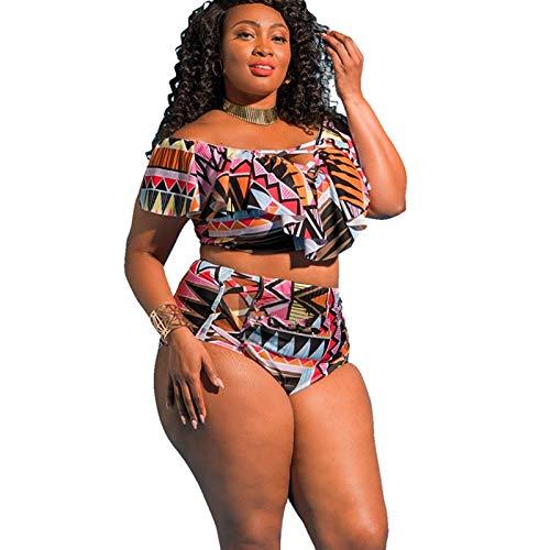 GUOZI Bikini 5XL groot formaat Bikini Set Vrouwen Plus Size Badmode Grote Hoge Taille Bikini Badpak Aanbieding Schouder