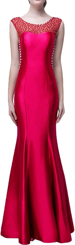 Avril Dress Elegant Formal Wedding Mermaid Charmuse Sleeveless Party Gown New
