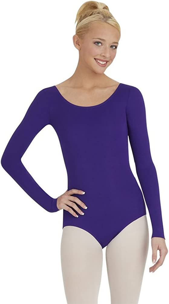 Capezio Long Sleeve free shipping Leotard Purple Small Our shop OFFers the best service Size -