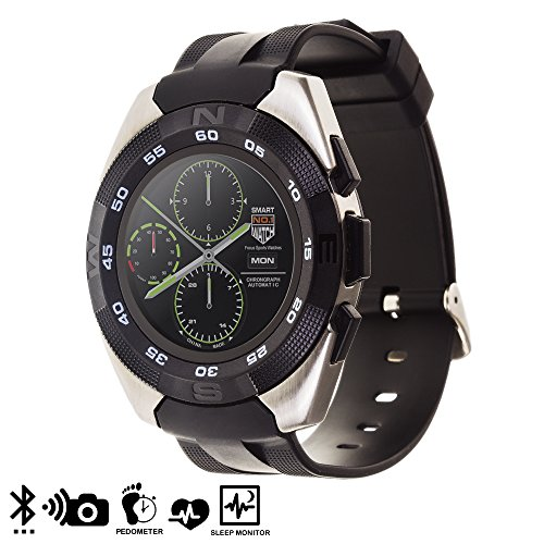 Silica DMT178SILVER G5 Smartwatch mit rundem Display, Silber
