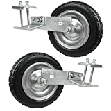 AGORA PU Tire Wheels Premier Pro Soccer Goals - Set of 2