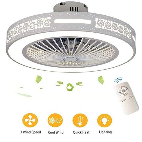 EFGS Ventilador de Techo con Lámpara, Lámpara Luz de Techo del Ventilador de Bajo Ruido con Control Remoto, 3 Velocidades, Potencia 40W, Dormitorio de Sala Moderna Habitación para Niños Iluminación