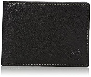 Timberland Men s Genuine Leather RFID Blocking Passcase Security Wallet black One Size
