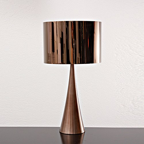 Abajur Bella Iluminação Acet No Voltagev Bronze