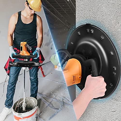 TTLIFE Máquina pulidora de pared Máquina pulidora Paleta de mortero de cemento de hormigón Máquina de pulido pared Velocidad ajustable 80-200RPM 1700W Paleta eléctrica con taladro mezclador concreto