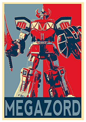 Instabuy Posters Power Rangers Propaganda Megazord - A3 (42x30 cm)