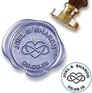 Custom Wax Seal Stamp Kit with Sealing Wax-1