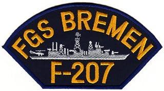 Aufnäher Bügelbild Aufbügler Iron on Patches Applikation FGS Bremen F-207 Fregatte