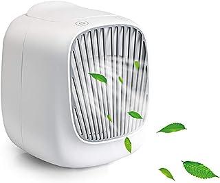 LBWNB Mini Personal Air Cooler USB Table Fan Pequeño Evaporativo Enfriador Climatizador Portatil 3 En1 Ventilador Humidificador para Casa