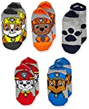 Nickelodeon boys Paw Patrol 5 Pack No Show Casual Sock, Grey Assorted, Shoe Size 3-8 US