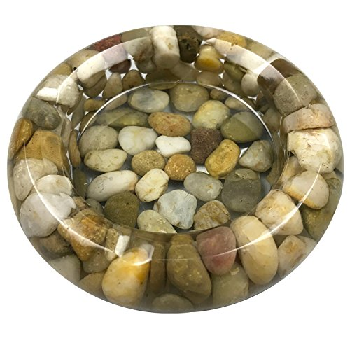 OYAMIHUI Natural Stone Pebbles Ashtray