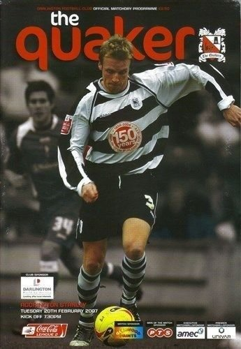 Darlington Accrington Stanley 22/02/07 football programme