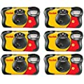6 X FunSaver Disposable Camera with Flash 800 ISO from