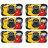 6 X FunSaver Disposable Camera with Flash 800 ISO