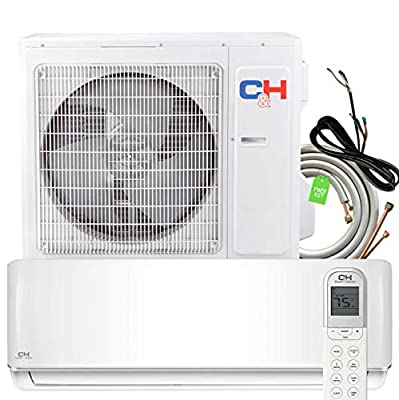30000 BTU Heating and Cooling Ductless Mini Split Air Conditioner Heat Pump with Installation Kit