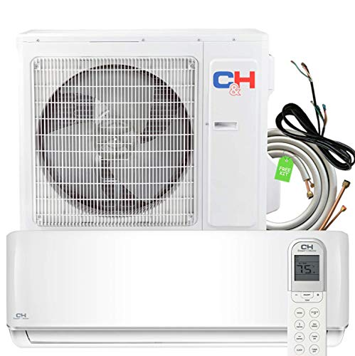 24000 BTU 20.5 SEER Heating and Cooling Ductless Mini Split Air Conditioner 208/230 V Heat Pump Energy Star with Installation Kit
