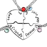 Top Plaza Silver Tone Alloy Rhinestone Best Friends Forever and Ever...