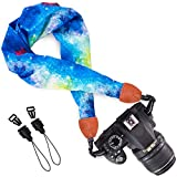 Wolven Soft Scarf Camera Neck Shoulder Strap Belt Compatible for All DSLR/SLR/Digital Camera (DC)/Instant Camera/Nikon/Canon/Sony/Pentax/Olympus/Leica/Fujifilm etc, Blue Galaxy canon dslr cameras Dec, 2020