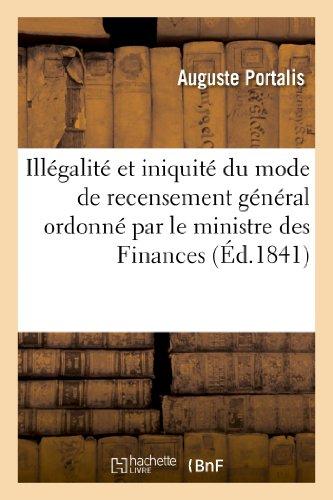 Illégalité et iniquité du mode de recensement général ordonné par le ministre des Finances