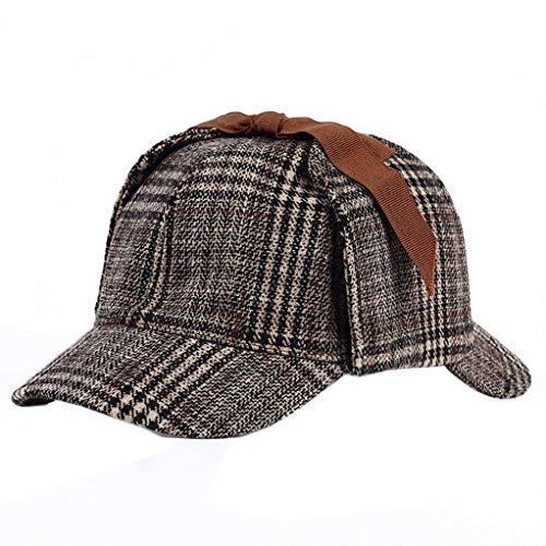 Bontand Sherlock Holmes Hut Unisex Winter-Wolle-Barett Für Männer Tweed Cap Zubehör Britischen Detective Hat Women