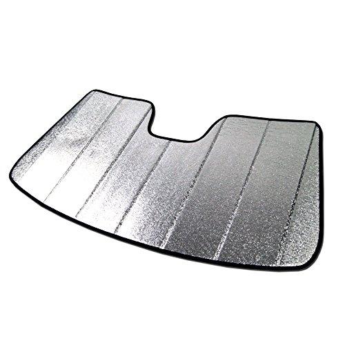 Tuningpros SS-014 Custom Fit Car Windshield Sun Shade Protector, Sunshade Visor Silver & Grey 1-pc Set Compatible With 2011-2017 Audi A8