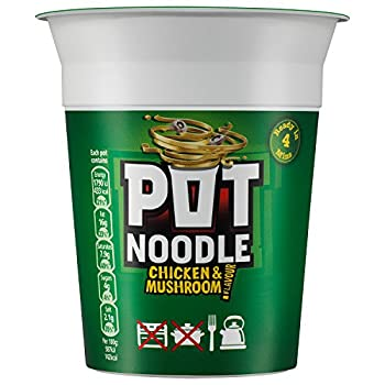 Pot Noodle Chicken and Mushroom 90 g  Pack of 12