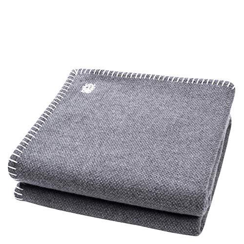 'zoeppritz since 1828' Must Stitch-Decke – Wolldecke – edles Plaid aus reiner Schurwolle mit Häkelstich – 150x200 cm – 010 offwhite – von 'zoeppritz since 1828'
