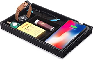 Bear Motion Wireless Charging Station for for iPhone X 8 Plus and Samsung S7 Edge S8 Plus S9 Plus Note 8 with Desk Organizer Wireless Charging Station Tray (HB07)
