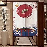 FJTPのれん戸口カーテン春の花のテーマウィンドウトリートメントカーテンタペストリー家の装飾のための日本の戸口カーテン