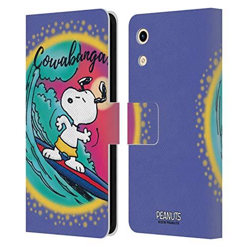 Head Hülle Designs Offizielle Peanuts Cowabunga Surf Snoopy Plankenweg-Spritzpistole Leder Brieftaschen Handyhülle Hülle Huelle kompatibel mit Huawei Honor Play 8A