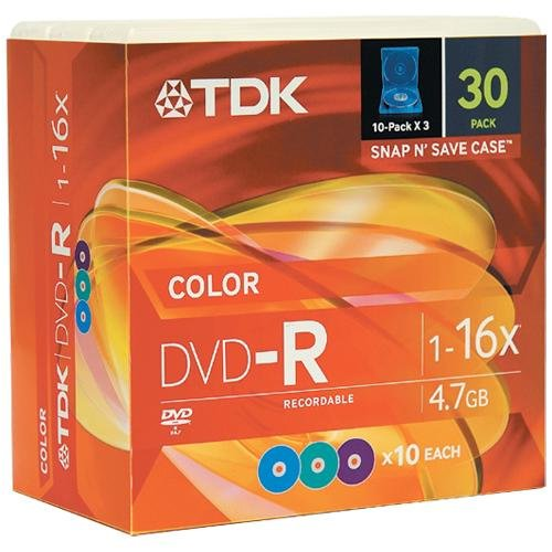 TDK DVD-R47FFSP30 30 Pack of DVD-R by TDK
