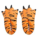 OHQ Zapatillas De Casa Hombres Adultos Zapatillas De Felpa para Interiores Divertidos Animales Paw Monster Claw Shoes