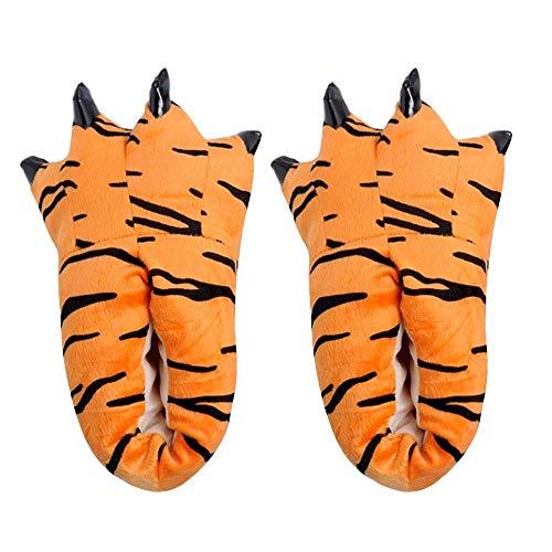 MYMYG Erwachsene Männer Plüsch Hausschuhe Lustige Tier Paw Monster Claw Schuhe Winterschuhe Mode Warme Flache Schuhe rutschfest Baumwolle Pantoffeln Slippers