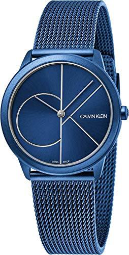 Calvin Klein Damen Analog Quarz Uhr mit Edelstahl Armband K3M52T5N
