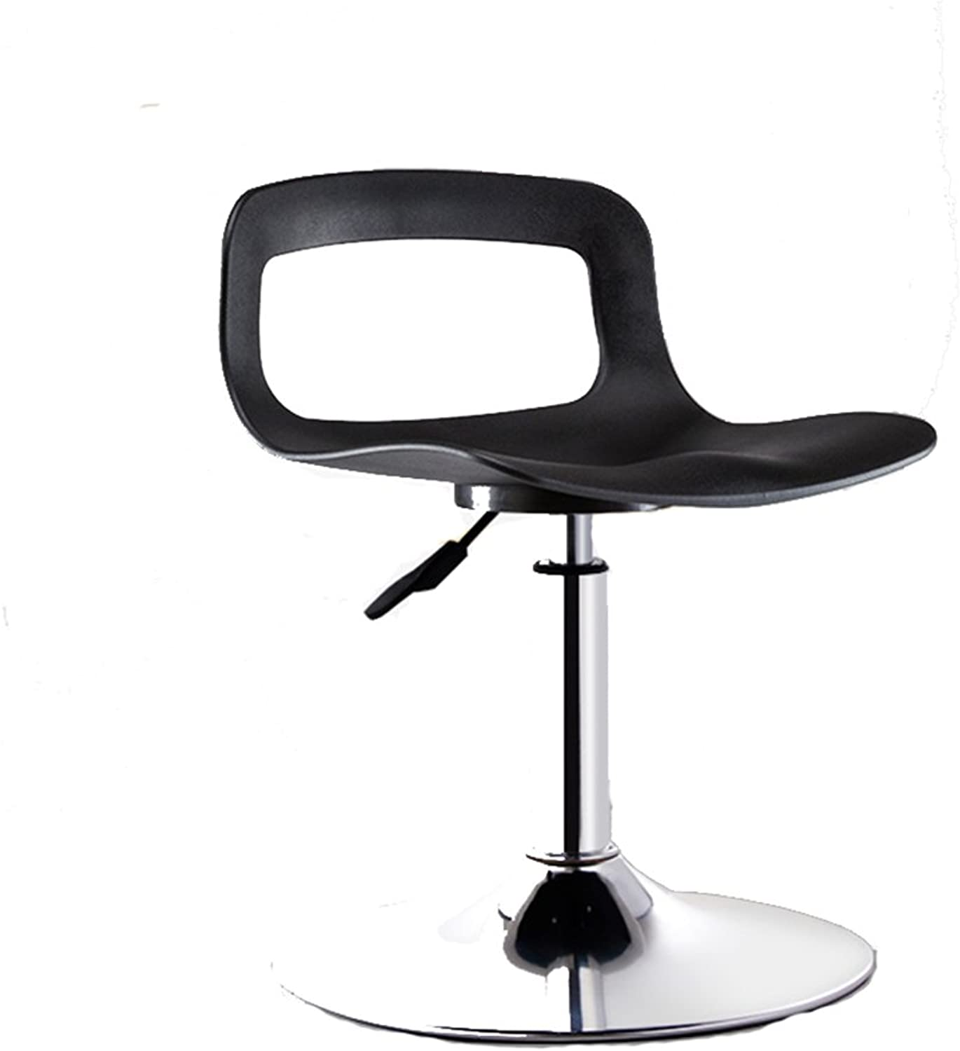 LHA Barstools Bar Stool 360° Swivel Chair Height Adjustable - Black, White Bar Furniture (color   Black)