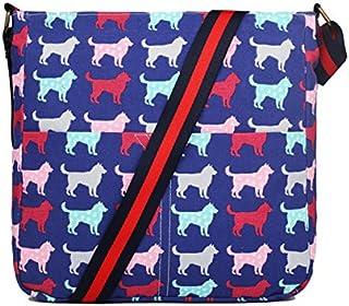 حقيبة كتف مربعة الشكل من قماش غير لامع عادية من ميس لولو
