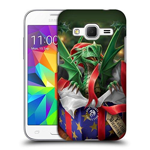 Head Case Designs Oficial Anne Stokes Regalo Sorpresa Navidad Carcasa rígida Compatible con Samsung Galaxy Core Prime