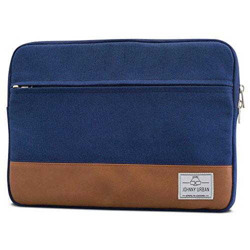 Johnny Urban Laptophülle 13-13.3 Zoll Blau Canvas Laptop Sleeve Laptoptasche Hülle für...